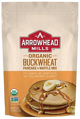 Sugar Free Pancake Mix - Arrowhead Mills Organic Buckwheat Pancake & Waffle Mix, 26 Ounce (Pack of 6)