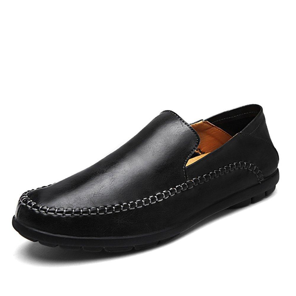 XUE Herrenschuhe Leder Frühling Winter Herbst Herbst Herbst Loafers & Slip-Ons Driving Schuhe Casual Outdoor Formelle Business Arbeit Schwarz, Hellbraun ce6939