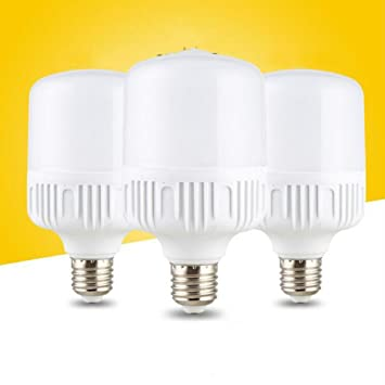 LED E27 luz de ahorro de energía Luz blanca amarilla Bombilla de luz de plástico Impermeable