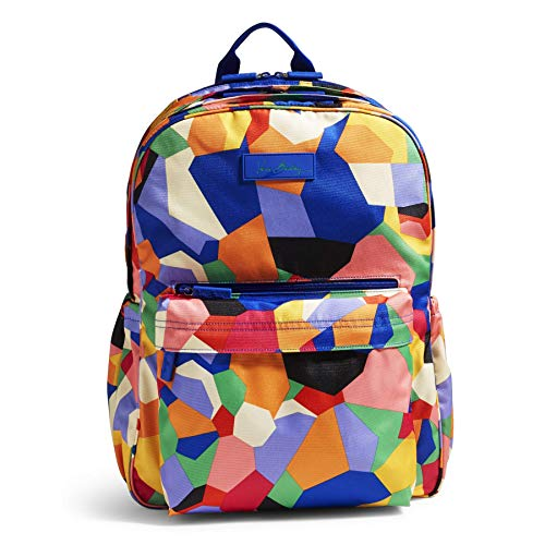 Vera Bradley Women's Lighten Up Grande Laptop Backpack, Pop -