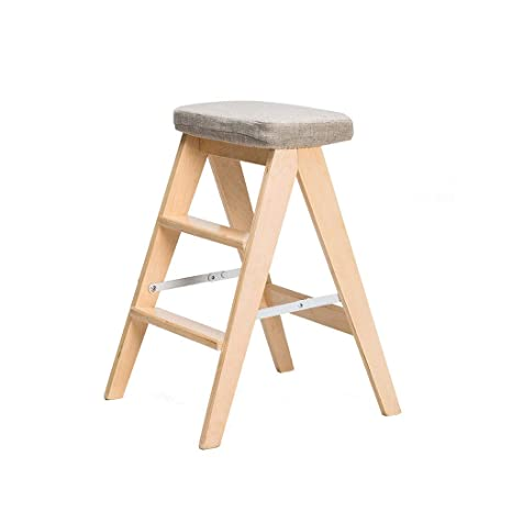 Terrific Amazon Com Creative Solid Wood Folding Stool Simple Onthecornerstone Fun Painted Chair Ideas Images Onthecornerstoneorg