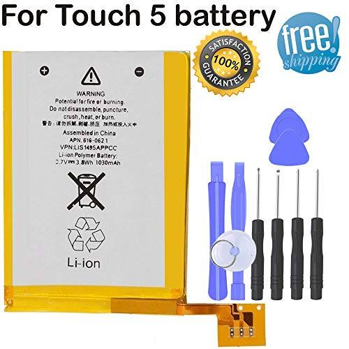 Internal Replacement Battery Compatible for iPod Touch 5th Generation Stalion Strength Li-Polymer Battery 1030mAh 3.7V + Free Tools