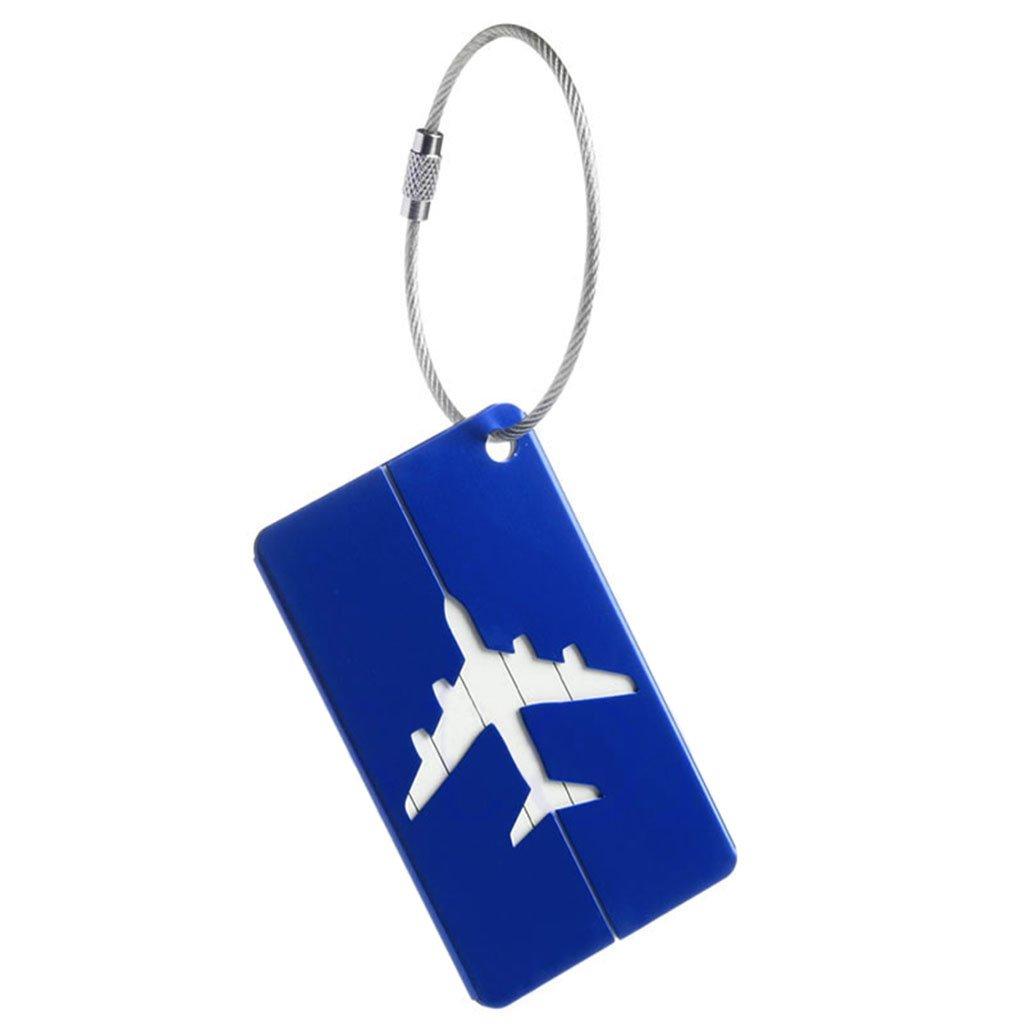 Blau Exing Aluminium Reisegep/äck kofferanh/änger Gep/äckanh/änger Koffer Identit/ät Adresse Name Etiketten
