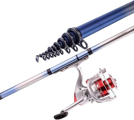 Sgxpjj Caña De Pesca Fishing Rod Spinning Telescópicas Combo Giratorio Barco Surf Lago Daiwa Presa Océano Mar Viajes Pesca Al Aire Libre: Amazon.es: Deportes y aire libre