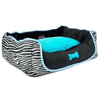 mifauna Cama Cebra Azul y Negra para Perros y Gatos Talla Mediana. 75 x 62 x (alt.) 19 cm: Amazon.es: Productos para mascotas
