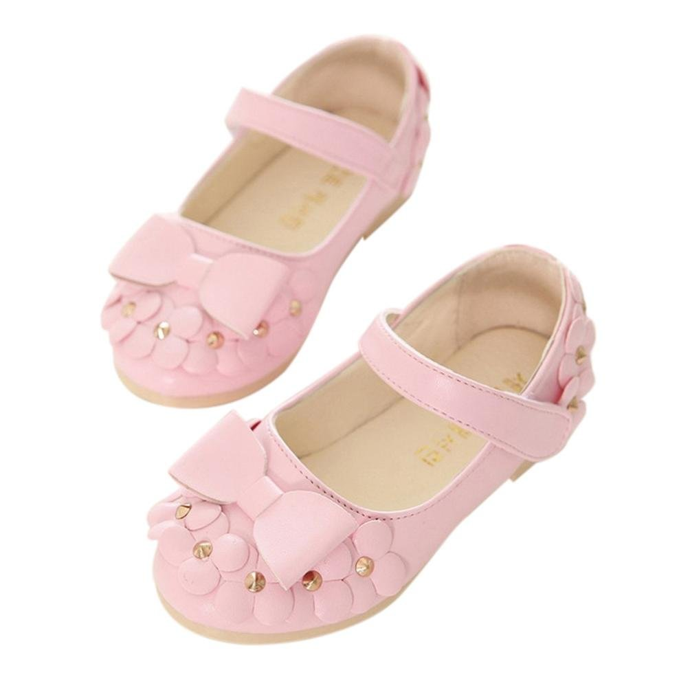 WARMSHOP New Fashion Soft Sandals For Girls Floral Soft Casual Spring Summer Shoes (Pink, 2.5-3 Years Old)