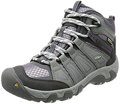 KEEN Women's Oakridge Mid Waterproof Boot, Gray/Shark, 5 M US