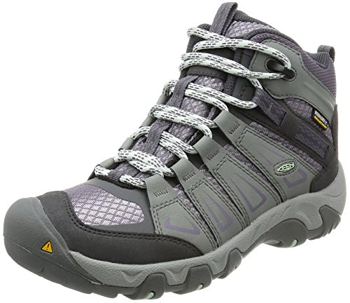 Image of the KEEN Women's Oakridge Mid Waterproof Boot, Gray/Shark, 8.5 M US