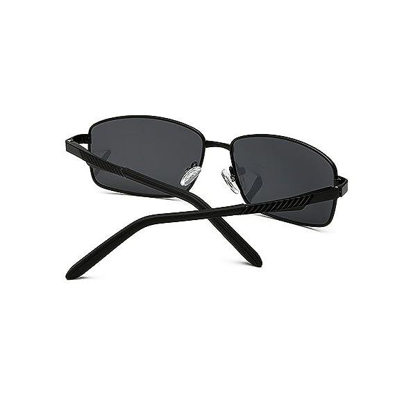 Retro Gafas de sol polarizadas de aluminio y magnesio retro Protección UV Gafas de sol deportivas Gafas de sol de conducción Chasis de metal con borde ...