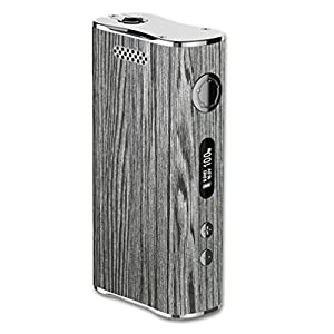 Eleaf iStick 100W Vape E-Cig Mod Box Vinyl DECAL STICKER Skin Wrap / Dark Grey Wood-grain Design