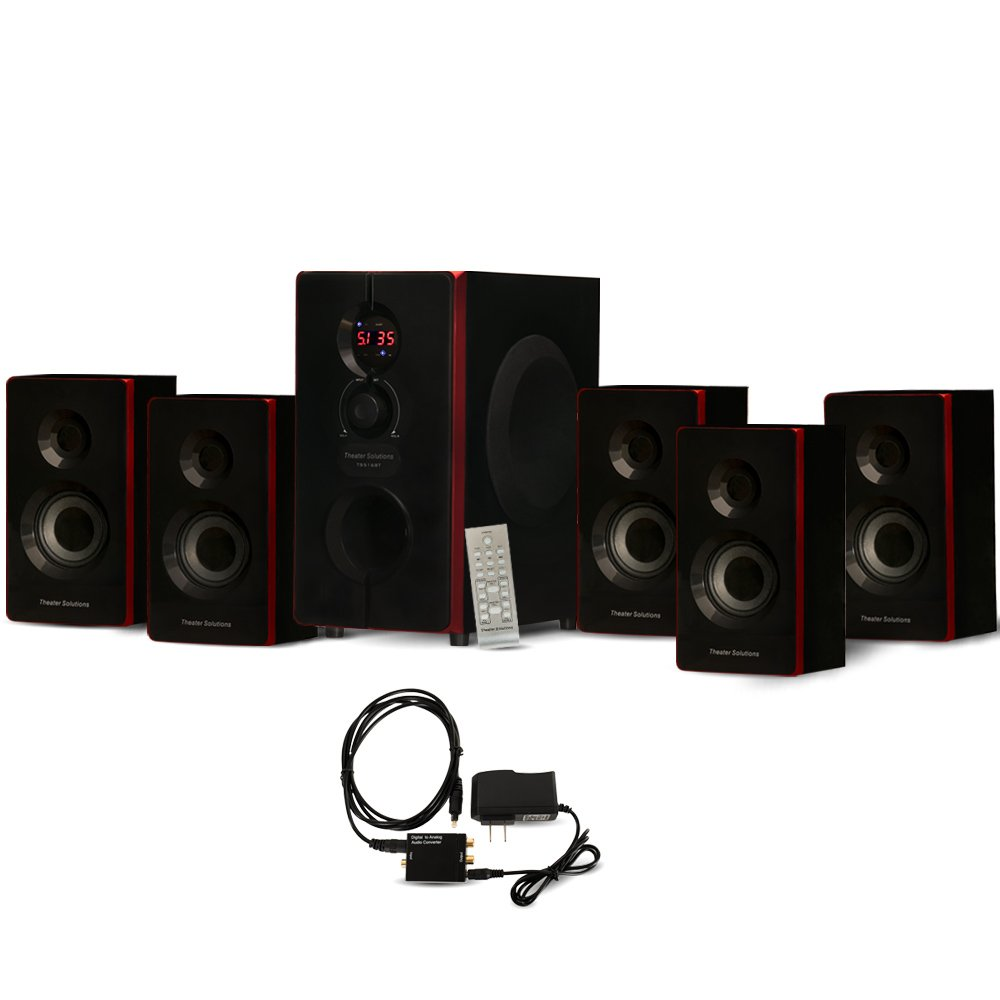 Amazon.com: Theater Solutions TS516BT Home Theater Bluetooth 5.1 Speaker  System with Optical Input: Electronics
