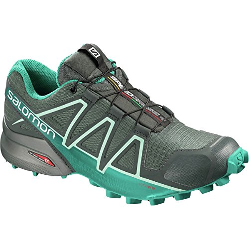 Salomon Speedcross 4 Nocturne GTX W, Chaussures de Trail Femme Vert (Balsam Green/Tropical Green/Beach Glass Balsam Green/Tropical Green/Beach Glass)