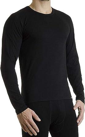 Camiseta Térmica Hombre Largo Función Ropa Interior Térmica Ropa Interior de esquí para hombre en negro de Pleas: Amazon.es: Ropa y accesorios