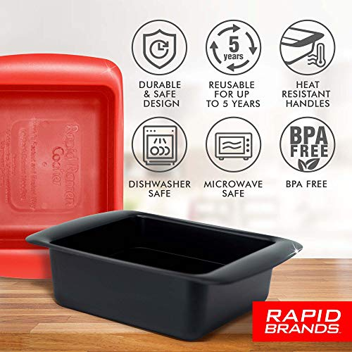 Rapid Ramen Cooker | Microwavable Cookware for Instant Ramen | BPA Free and Dishwasher Safe | Available in Red and Black | Perfect for Dorm, Small Kitchen or Office | 1 Pack | Mystery (Red or Black)
