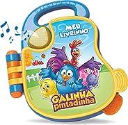 Brinquedo para Bebe Galinha Pintadinha Livro Sonora, Elka, Multicor