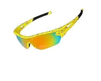 Hysenm polarizado Revo-Gafas de sol protección UV400, 3 pares de cristales intercambiables para
