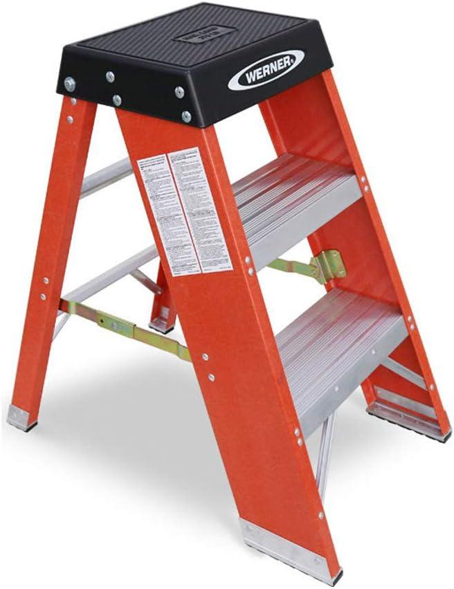 Nevy- Escalera Industrial Estable de la Plataforma del Electricista del Grado del Taburete del Paso del Taburete del Paso del FRP, 3 Pasos: Amazon.es: Hogar