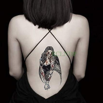 tzxdbh Etiqueta engomada del Tatuaje a Prueba de Agua Chica Tatto ...