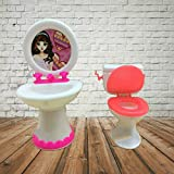 Supershopping Closestool Washbasin Toilet Wash Devices For Barbie Doll's House Bathroom Furniture Accessories
