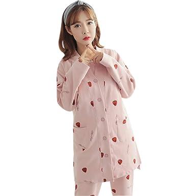 KINDOYO Mujeres Pijama de Lactancia Invierno Ropa - Moda Un ...