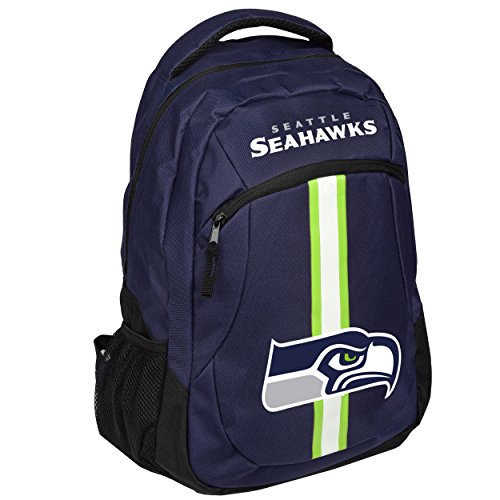 Forever Collectibles NFL Seattle Seahawks Action Backpack, Team Color, One Size