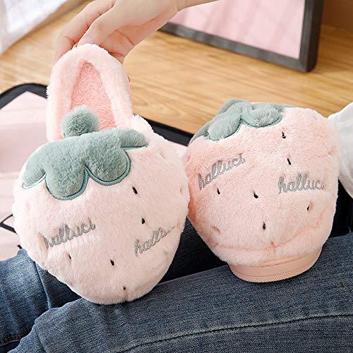 Bas Intérieur Maison Pantoufles Pink Mignon Bande Antidérapantes Chaussures Coton Hiver Épais De En Dessinée Femme Enfants ZSqWAqOBR