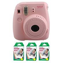 Fujifilm FU64-MIN8PK60 INSTAX MINI 8 Camera and Film Kit for 60 Exposures (Pink)
