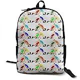 Malsjk8 Wrestling Wrestlers Pattern Unisex College Bag Fits up Laptop Casual Rucksack Waterproof School Backpack Daypacks