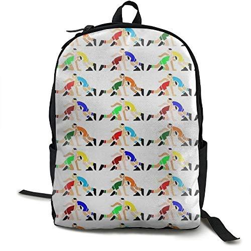 Malsjk8 Wrestling Wrestlers Pattern Unisex College Bag Fits up Laptop Casual Rucksack Waterproof School Backpack Daypacks by Malsjk8
