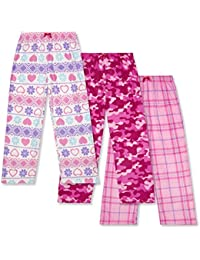 Mad Dog Girls Fleece Sleep Pants - Packs of 3 Assorted Designs and Sizes