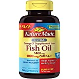 Nature Made Ultra Omega-3 Fish Oil 1400 mg Softgels w. Omega-3 1000 mg Value Size 90 Ct