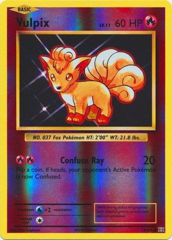 Pokemon - Vulpix (14/108) - XY Evolutions - Reverse Holo