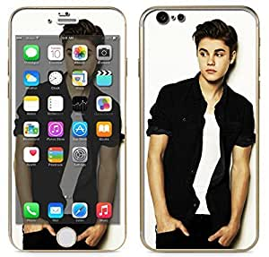 """Apple iPhone 6 (4.7"""") - Skin Kit plus Clear/White Bumper Case Protector and matching wallpaper - Justin Bieber Fever Believe If I was your Boyfriend WANGJING JINDA"""