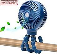 Mini Handheld Personal Portable Fan, Baby Stroller Fan, Car Seat Fan, Desk Fan, with Flexible Tripod Fix on St