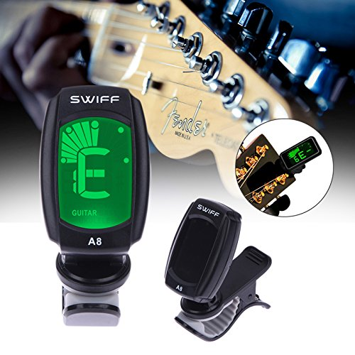 - GOSONO Guitar Tuner 3V A8 Digital Chromatic Clip-On Tuners Acoustic Electric Guitarra Bass Violin with Back Light Guitar Accessories