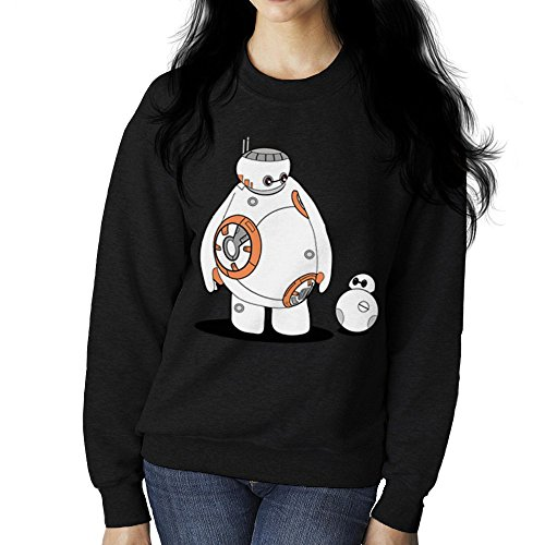 BB Max Baymax BB8 Big Hero 6 Star Wars Women's Sweatshirt