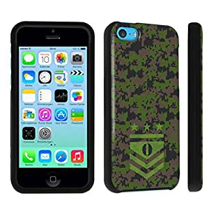DuroCase ? Apple iPhone 5c Hard Case Black - (Army Camo Monogram O)