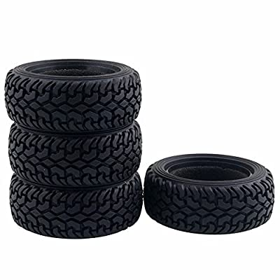LAFEINA 4PCS High Performance RC Rally Car Grain Rubber Tires for 1:10 RC On Road Car Traxxas Tamiya HSP HPI Kyosho: Toys & Games