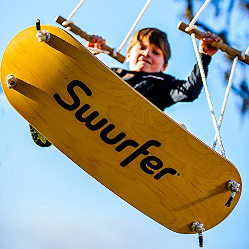 Swurfer - the Original Stand Up Surfing Swing - Curved Maple Wood Board To Easily Surf The Air by Swurfer