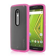 Motorola DROID MAXX 2 / Moto X Play Case, Incipio [Co-Molded Case][Shock Absorbing] Octane Case for Motorola DROID MAXX 2 / Moto X Play-Frost/Pink
