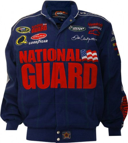 Dale Earnhardt Jr. #88 National Guard Blue Cotton Twill Jacket ()