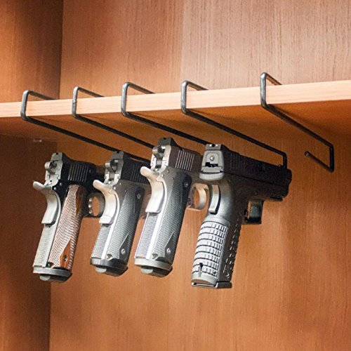 Generic O-8-O-3219-O Organi Cabinet Safe inet Sa Holder Safety Safety Hand Gun Hanger Rack H Organizer Stand stol 5 Pistol 5 Storage Rack HX-US5-16Mar28-1916 by Generic
