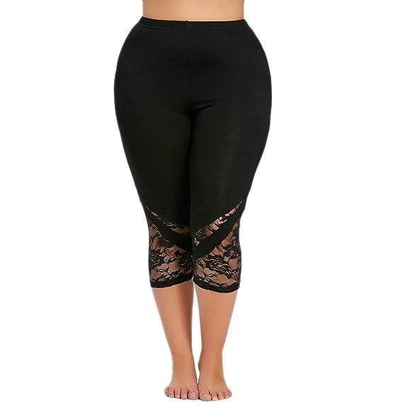 Pantalon de Yoga Grande Taille,Fitness Pour Femme Cargo Pantacourt,PowerFul-LOT  Mode fe84fa493232
