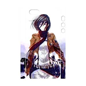 Custom Attack on Titan Design PC and TPU Phone Case Cover Laser Technology for iPhone 5,5S 3D