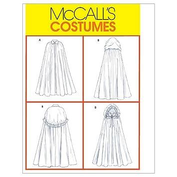 Unbekannt Mc Call´s Schnittmuster 4698 Z Damen Kostüm Umhang,Cape Gr ...