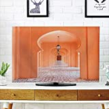 iPrint LCD TV dust Cover Strong Durability,Arabian,Moroccan Walkway with Islamic Motifs and Arabic