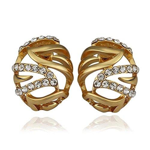 Green Earrings Rose Gold Earrings Oval Stud Earrings Birthday Party Wearing Earrings