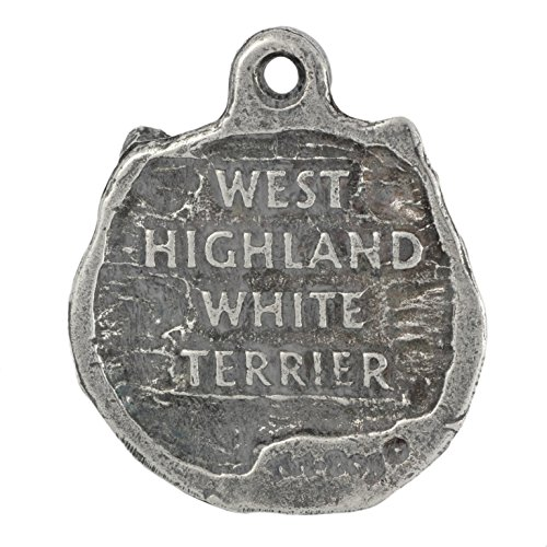 Dog Keyring and Necklace in Casket Poltalloch Terrier Limited Edition Oval West Highland White Terrier ArtDog Roseneath Terrier Deluxe Set