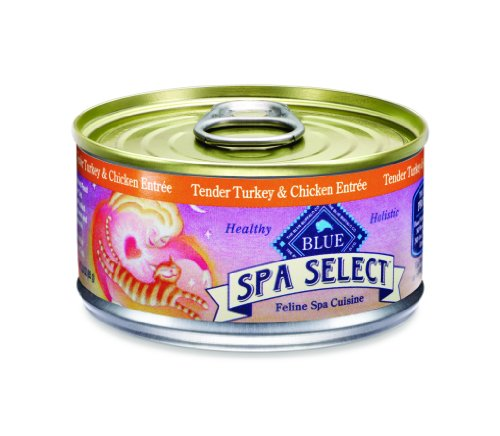Blue Buffalo Spa Select Canned Cat Food, Turkey and Chicken Entrée (Pack of 24 3-Ounce Cans), My Pet Supplies