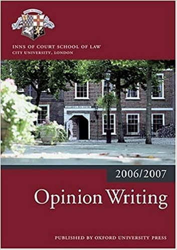 Opinion Writing 2006-07 (Bar Manuals)